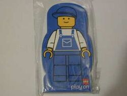 4229615-Memo Pad Minifig - (G) Overalls blue