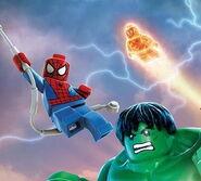 Hulk spidey and torch