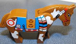 Lego brown pinto horse 2