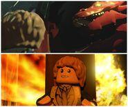 LEGO The Hobbit Smaug and Bilbo