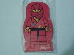 4229645-Memo Pad Minifig - (X) Ninja Red