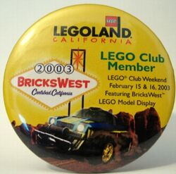 Pin34 Legoland California BricksWest 2003