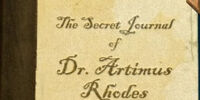 The Secret Journal of Dr.Artimus Rhodes
