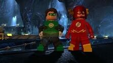 Flash and green lantern