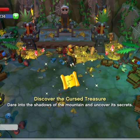 Discover the Cursed Treasure Achievement awarded