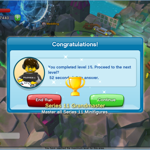 The Series 11 Grandmaster Achievement being awarded.