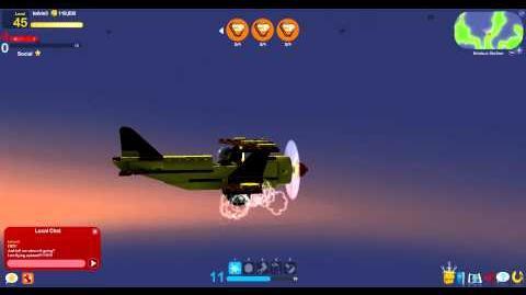 Lego Universe Kelvin flying a plane