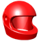 Red racing helmet