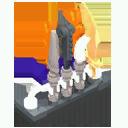 Skeleton Weapon Rack 1 Model