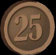 Pre-Alpha Bronze Coin ''25''