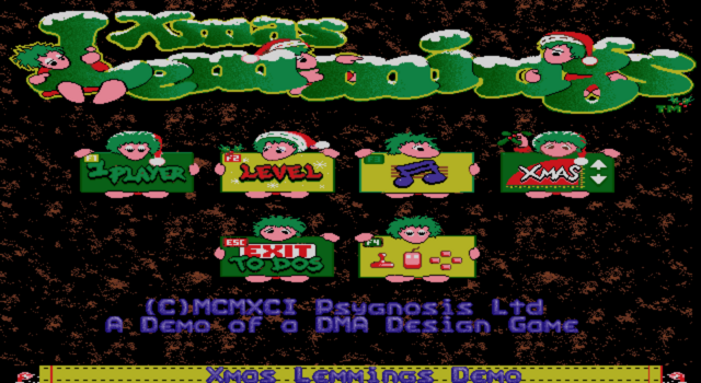 File:XmasLemmings91-92 Title.png