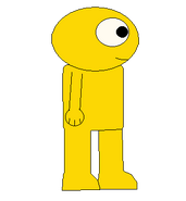 GOLD YELLOW GUY SIDEWAYS SPRITE TRANS