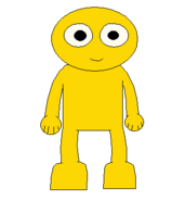 GOLD YELLOW GUY NEW FRONT SPRITE TRANS