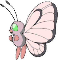 012 Butterfree OS2 Pink Shiny