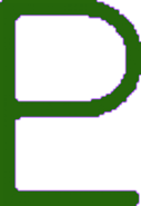 Pluto Symbol Green