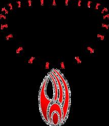 Borg Pendant Red