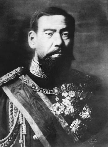 File:Black and white photo of emperor Meiji of Japan.jpg