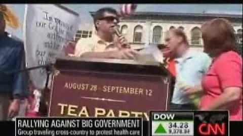 "CNN Coverage Of ""Tea Party Express"" Protest"