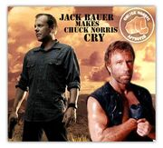 A pic of Jack Bauer beating up Chuck Norris fact joke awesome cool pic