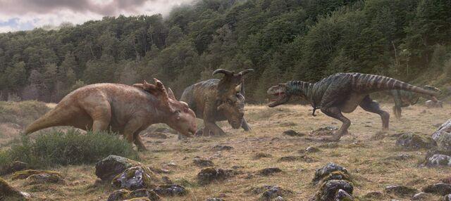 File:Pachyrhinosaurus-vs-gorgosaurus-in-1000-years-after-people.jpg