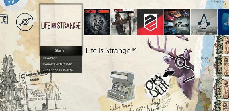 PS4 Life is Strange Theme