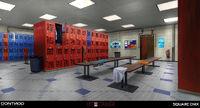 Blackwell Pool Lockers Room Concept Art by Gary Jamroz-Palma