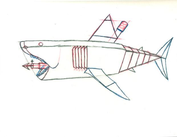 File:Mechanical great white shark pose a.jpg