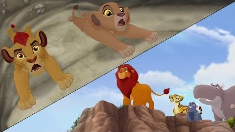 Lion Guard Searching for Udugu Simba leads the Guard! The Trail to Udugu HD Clip