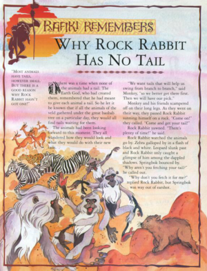 Why Rock Rabbit Has No Tail 1
