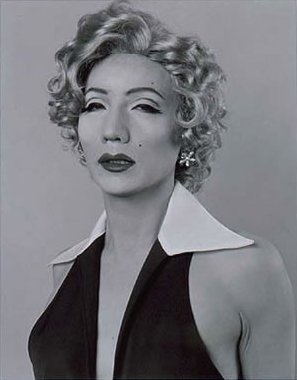 File:'Self Portrait, After Marilyn Monroe', --Gelatin-silver process-gelatin silver print-- by --Yasumasa Morimura--, 1996, --The Contemporary Museum, Honolulu--.jpg