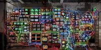 Works of art that use television sets