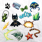 DC COMICS STICKERS
