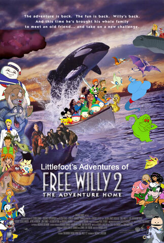 File:Littlefoot's Adventures of Free Willy 2; The Adventure Home Poster.jpg