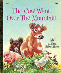 Cow over mountain