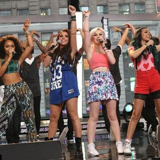 Little Mix performing Wings