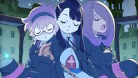 Lotte, Akko, and Sucy snoozing