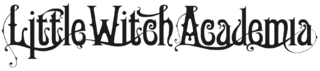 Little Witch Academia logo dark horiz
