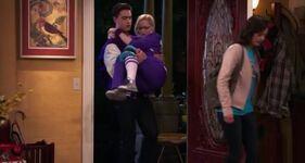 Diggie carries Maddie
