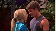 Josh leaning into Maddie!