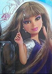 Daniela VL brunette pic on card
