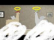 Llama with angels
