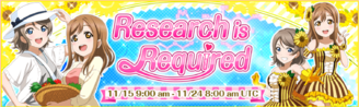 Research is Required EventBanner