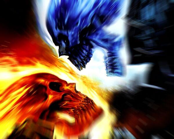 File:Red Skull and Blue Skull.jpg
