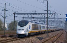 TGV passes through Haute-Picardie Station