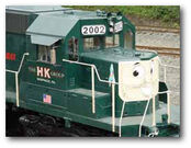 Diesel train with face