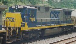 CSX GE C39-8W Super 7