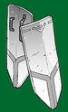 Coppelia white steel shield