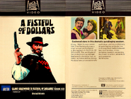 Fistful of Dollars Fox Video 8710224 1982 Farmington Hills Michigan. Twentieth Century-Fox Video (formerly Magnetic Video)