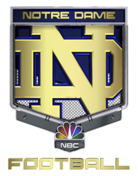 Notre Dame Football on NBC logo