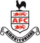 Airdrieonians FC logo (black and red)
